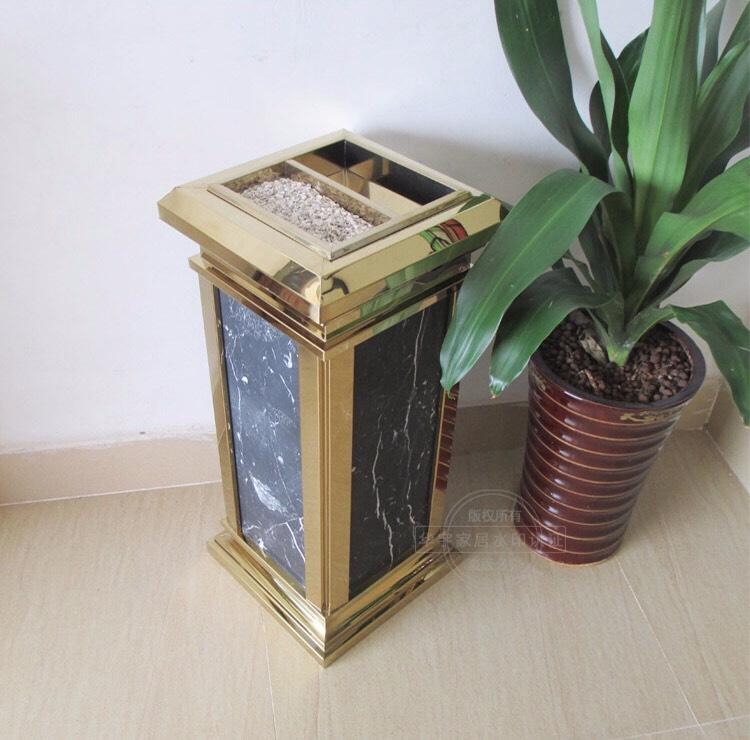 Thùng rác inox mạ vàng Vietbin